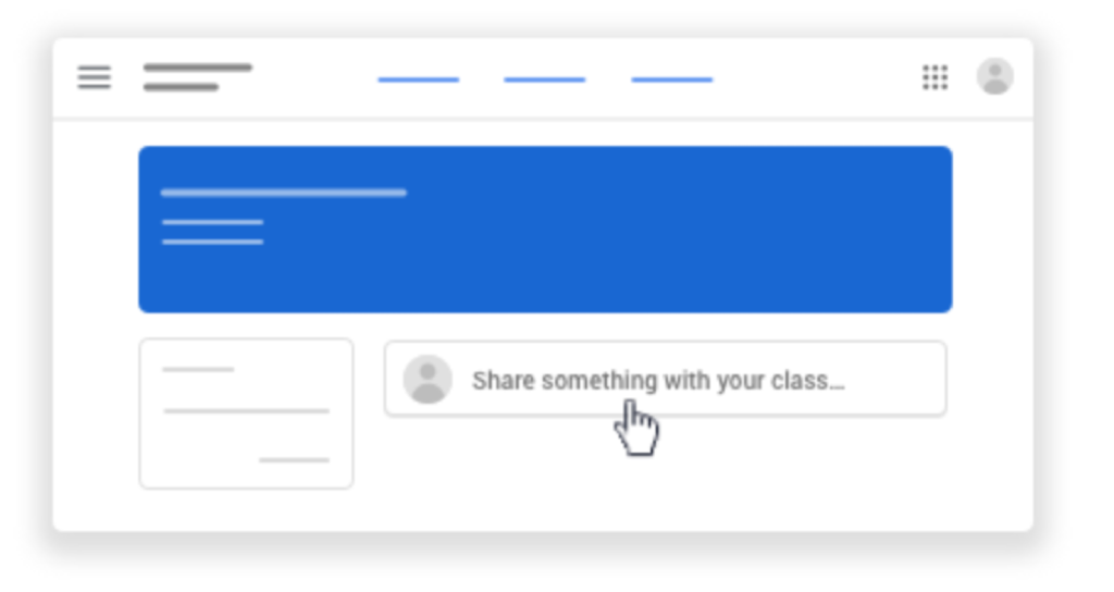 post to google classroom Stream page