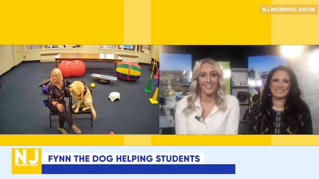 Fynn the dog helping students NJ Morning show clip